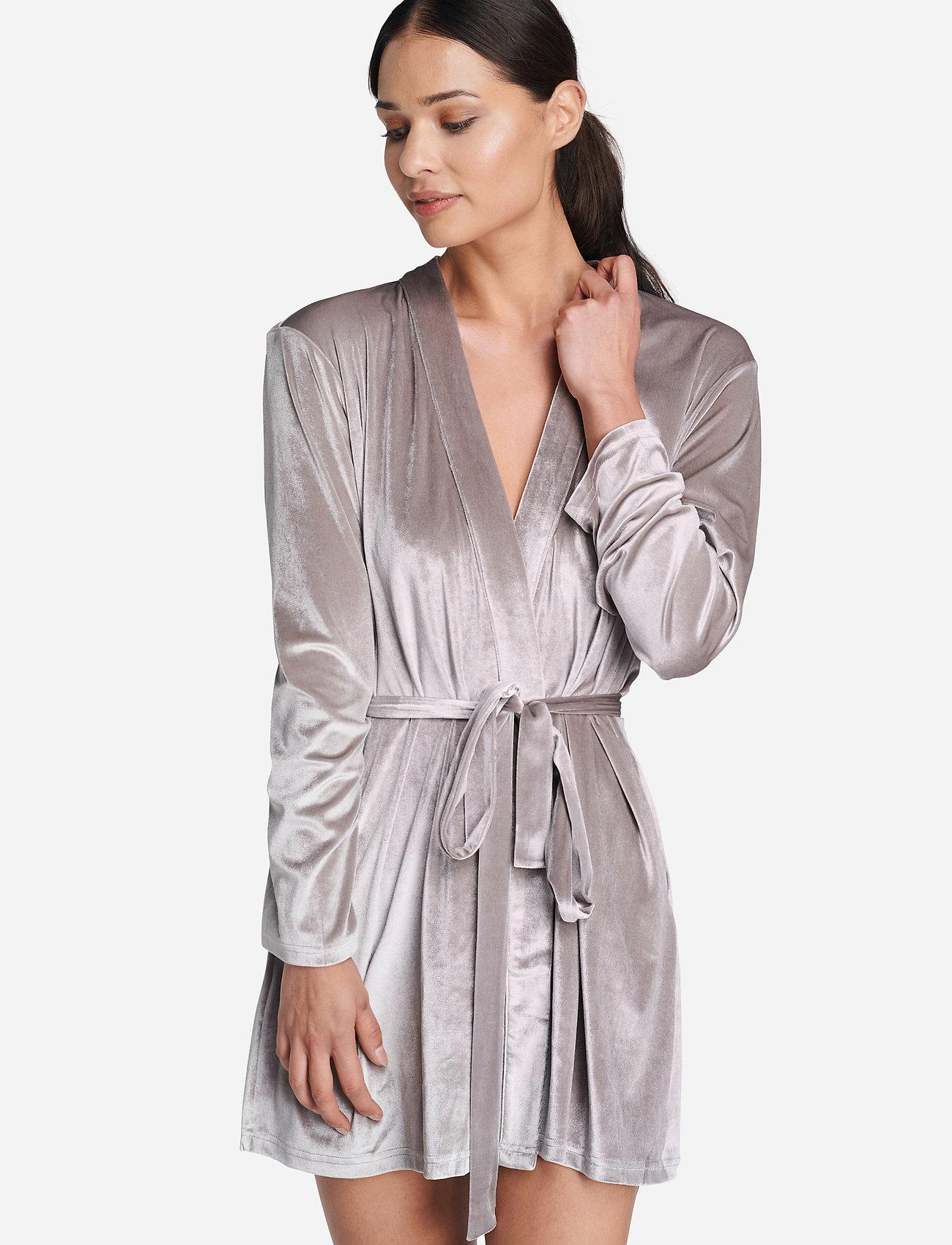 OW Intimates - KATRINA Short Robe - pegnoirs - grey - 0