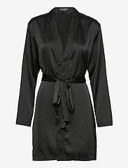 OW Intimates - AMBER Kimono - pegnoirs - black caviar - 0