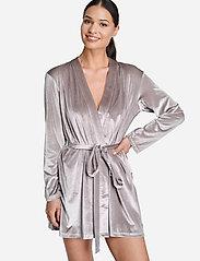 OW Intimates - KATRINA Short Robe - pegnoirs - grey - 3