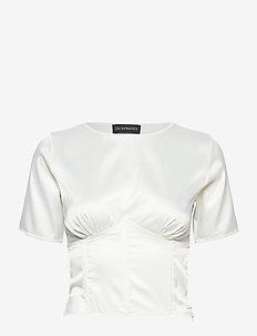 CECILIE Corset Top - blouses à manches courtes - white