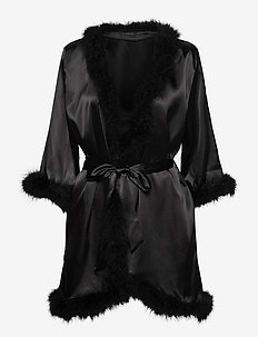 CANDICE feather Kimono - bedrok - black caviar