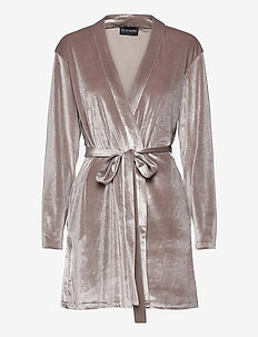 KATRINA Short Robe - pegnoirs - grey