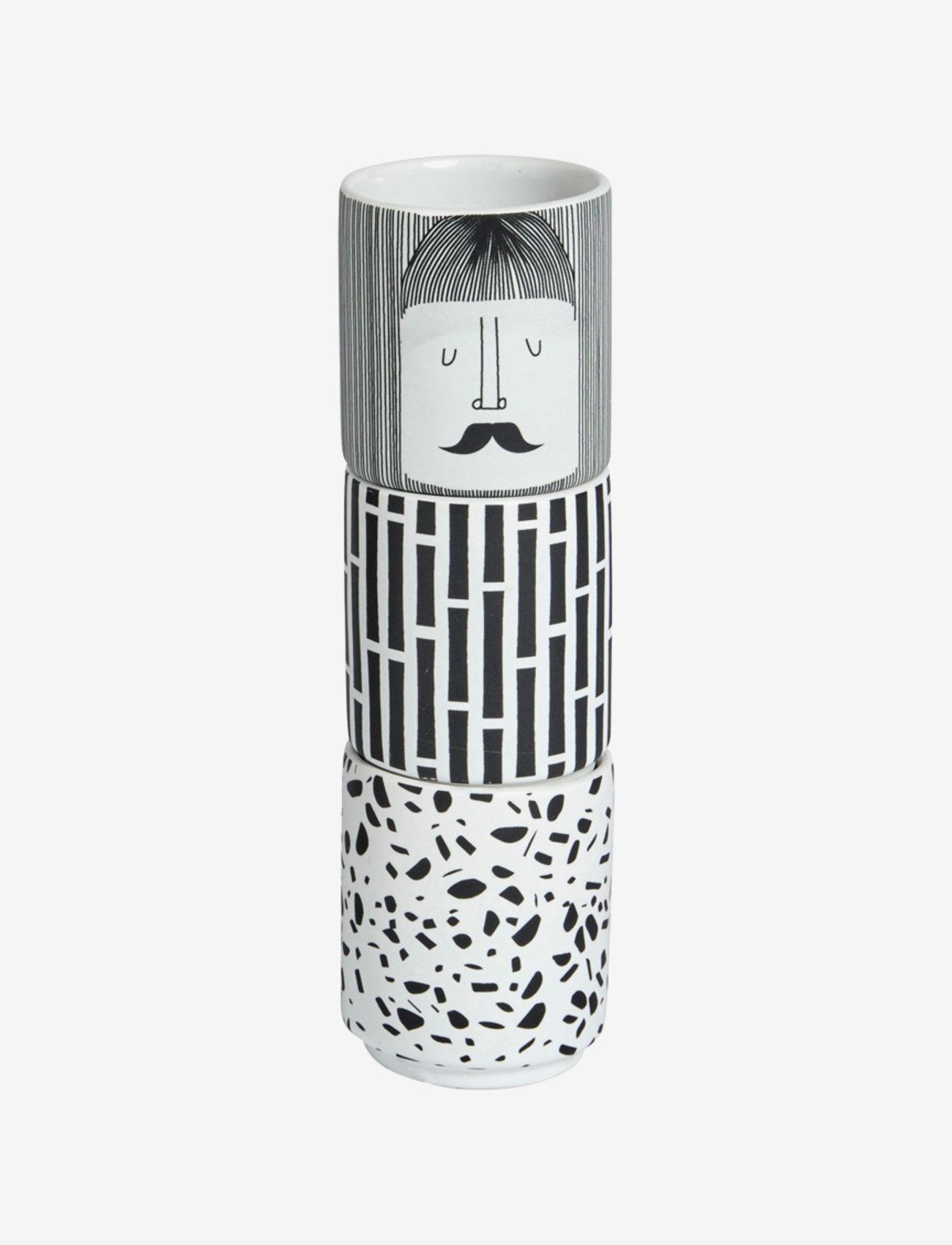 OYOY Living Design - Egg People - Man - munakupit - white / black - 0