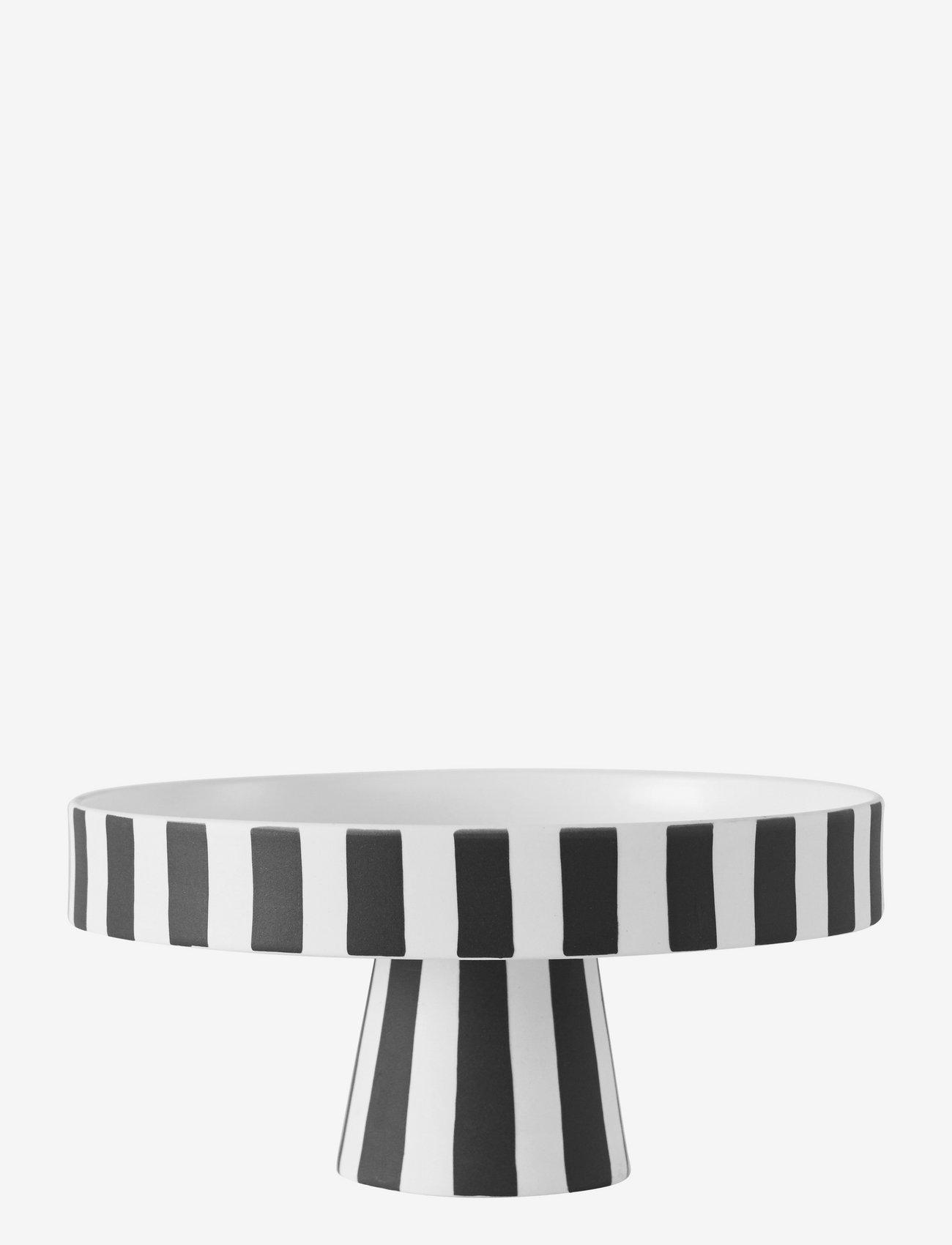 OYOY Living Design - Toppu Tray - kakefat - white / black - 0