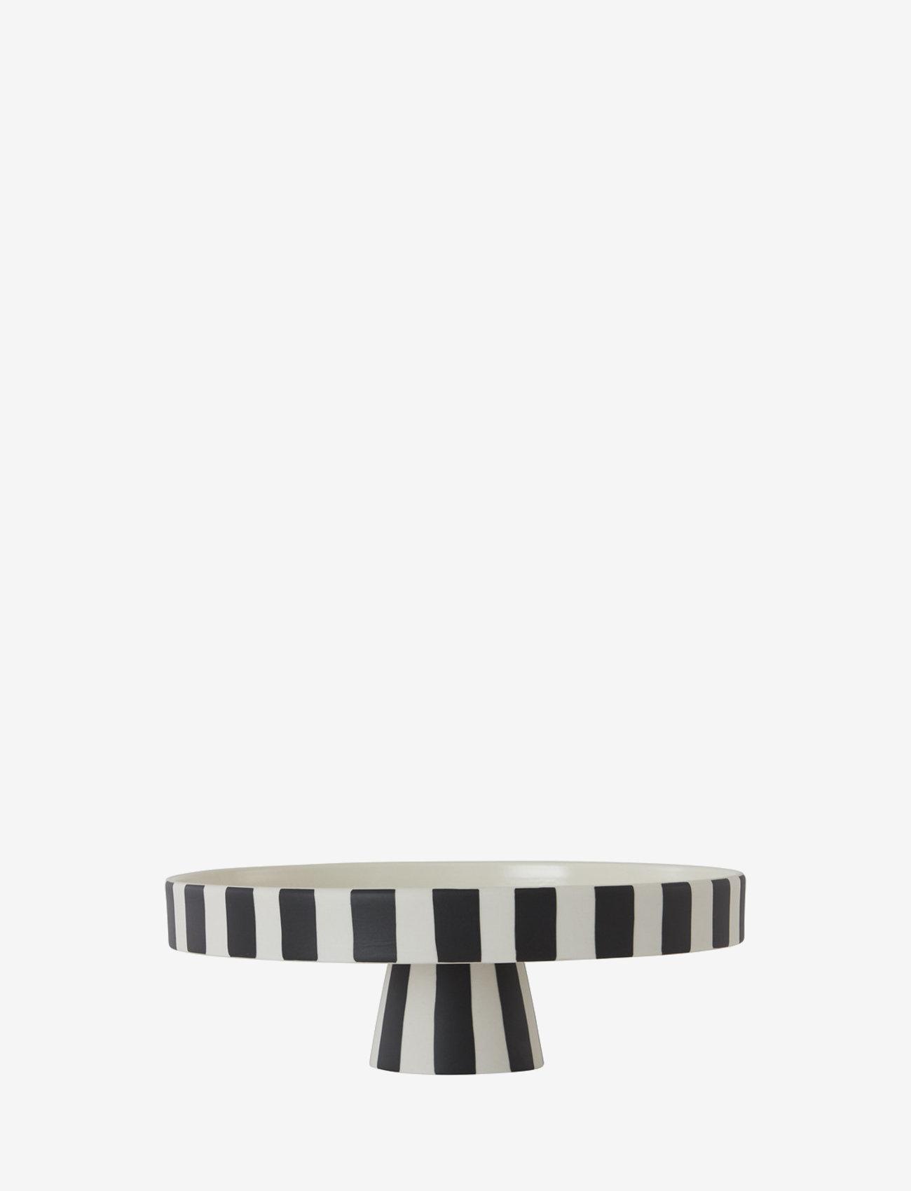 OYOY Living Design - Toppu Tray Large - kakefat - white / black - 0