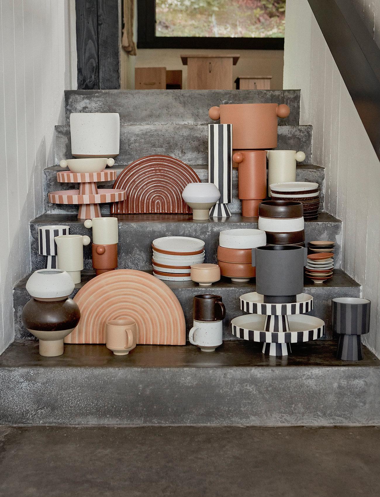 OYOY Living Design - Inka Dinner Plate, Pack of 2 - middagstallerkener - brown - 1