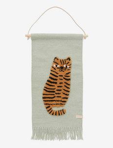 Tiger Wallhanger - veggdekor - green