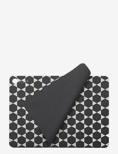 Placemat Hexagon - 2 Pcs/Pack - bordbrikker, glassunderlag & bordskånere - dark grey