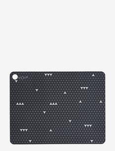 Placemat Grey Line - 2 Pcs/Pack - bordbrikker, glassunderlag & bordskånere - dark grey