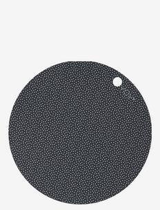 Placemat Dot - 2 Pcs/Pack - bordbrikker, glassunderlag & bordskånere - dark grey