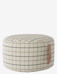 Grid Pouf Large - puffer - offwhite