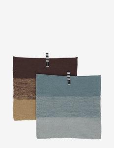 Niji Dish Cloth - 2 Pcs/Set - disktrasor & diskborstar - blue / brown