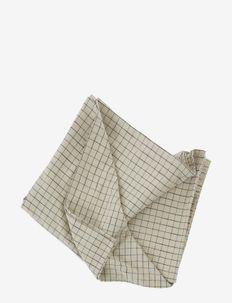 Grid Tablecloth - 200x140 cm - duge & bordløbere - black