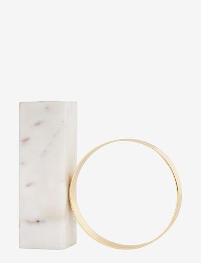 Tangent Candleholder - High - kynttilänjalat - white