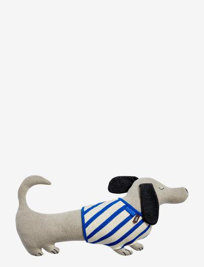 Slinkii Dog - pehmolelut - beige / dark blue