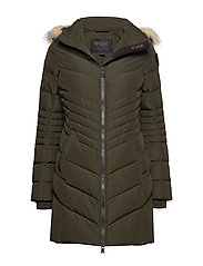 PA QUEENS FAUX FUR - MILITARY/CRYSTAL