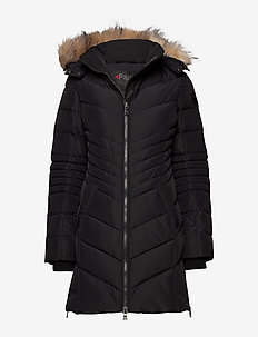 PA QUEENS FAUX FUR - BLACK/CRYSTAL