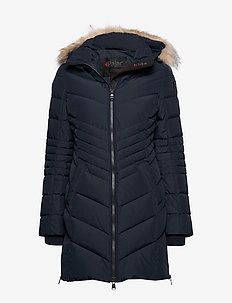 PA QUEENS FAUX FUR - NAVY/BLACK