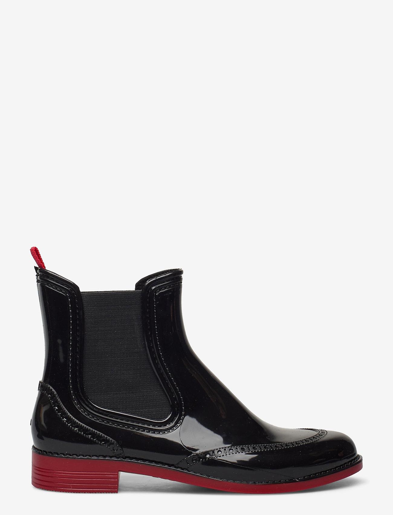Paliutis - CHELSEA style rainboots - bottes de pluie - black/red - 1