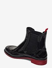Paliutis - CHELSEA style rainboots - bottes de pluie - black/red - 2