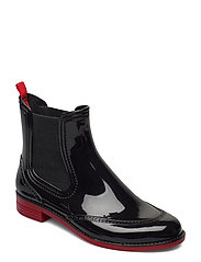 CHELSEA style rainboots - BLACK/RED