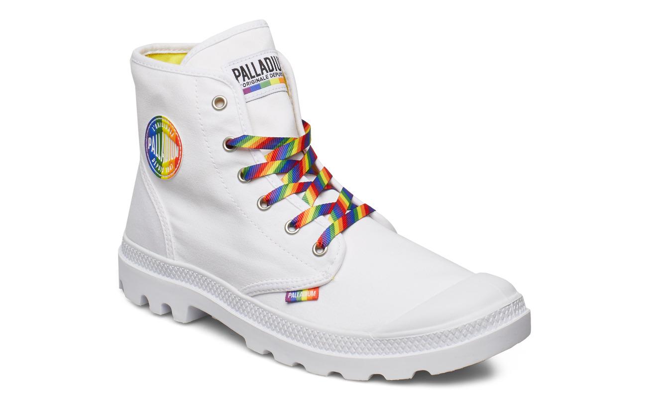 Palladium Pampa Pride - WHITE/RAINBOW