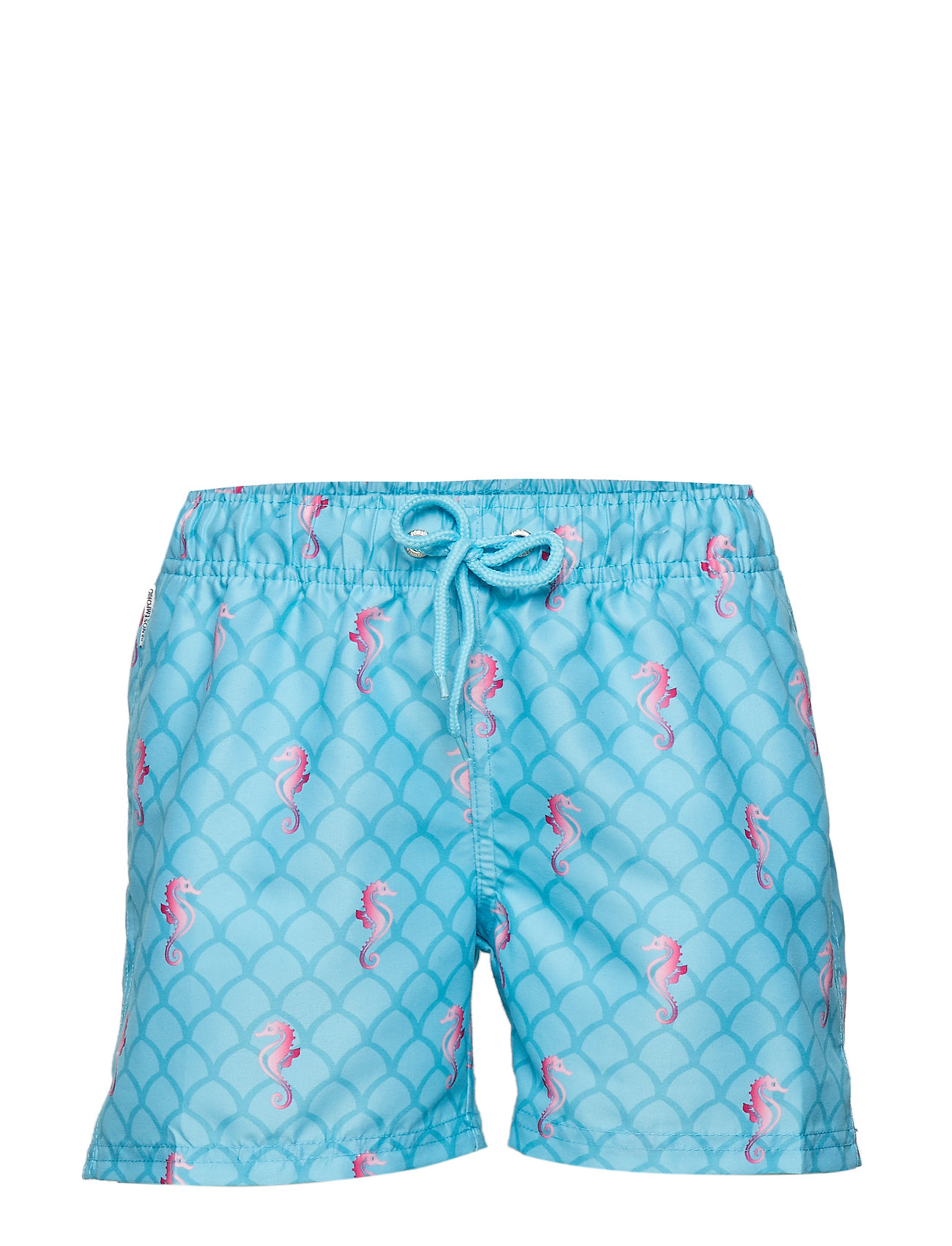 Panos Emporio PANOS EMPORIO HORSE RACE MARIOS LIGHT DENIM BLUE BOY SHORTS - DENIM BLUE