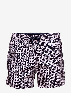 Meander - swim shorts - pink sun