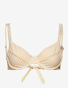 PANOS EMPORIO SUNBEAM MEDUSA TOP - bikini tops - soft yellow