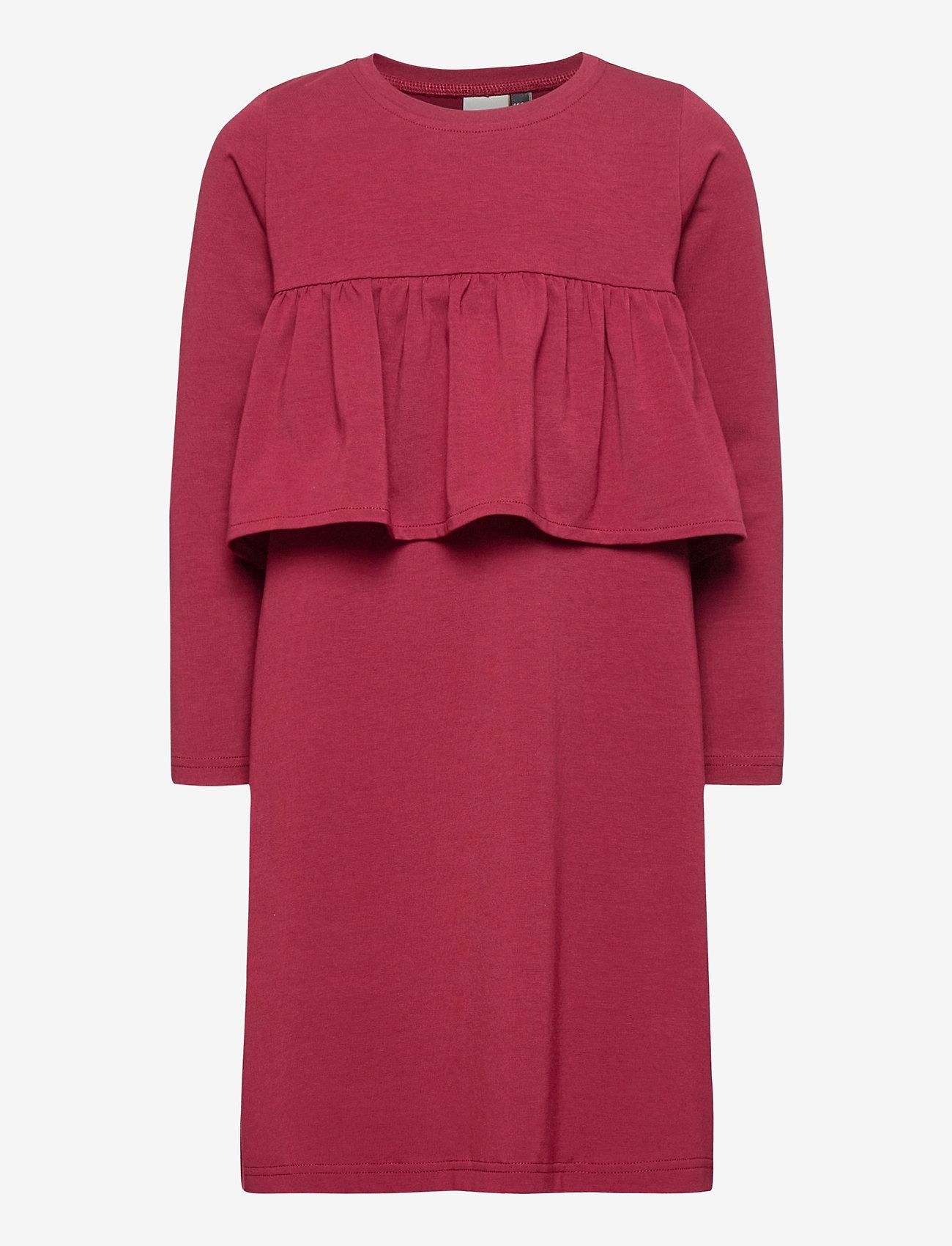 Papu - WAVE DRESS - kleider - deep red - 0