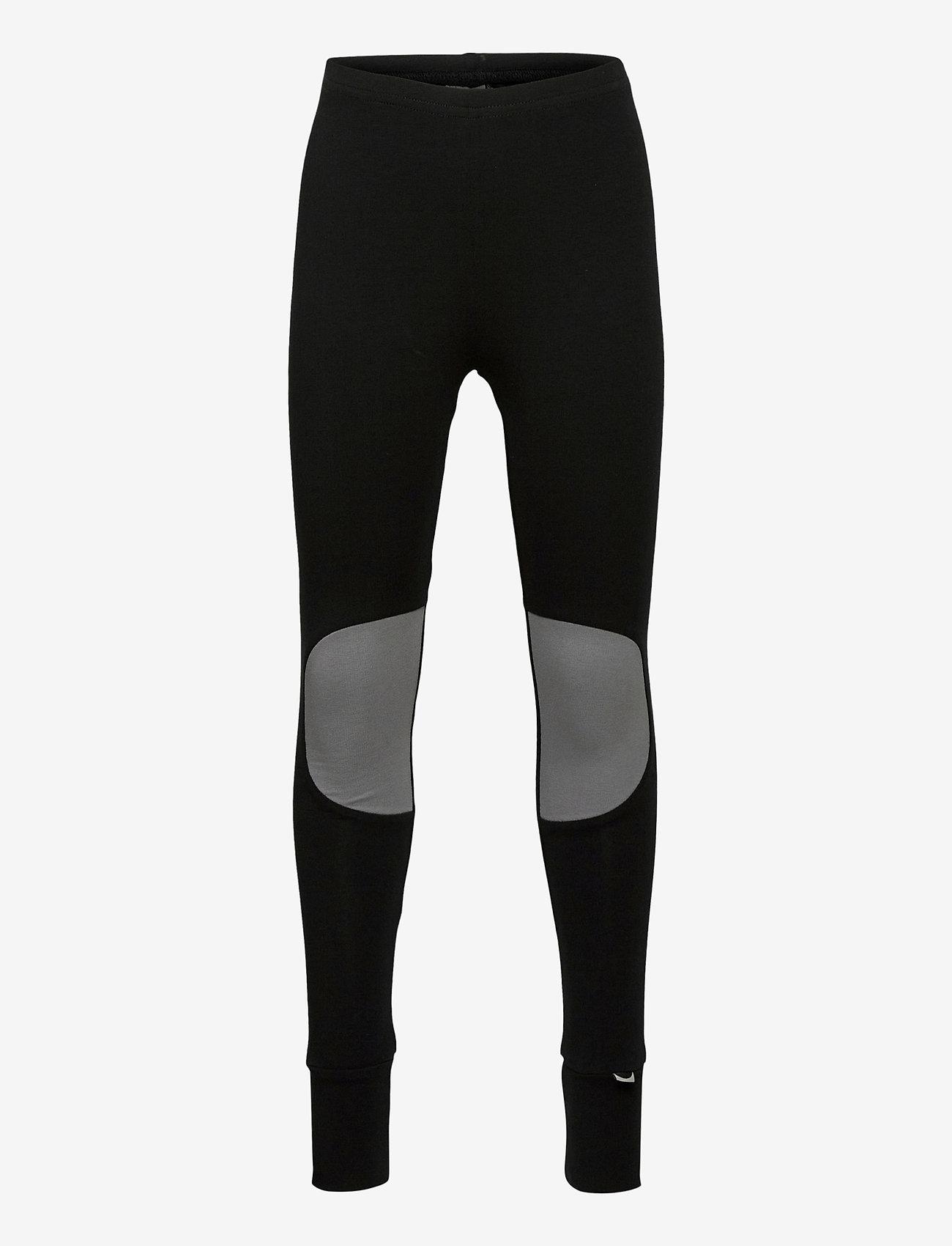 Papu - PATCH LEGGINGS KID - leggings - black, stone grey - 0