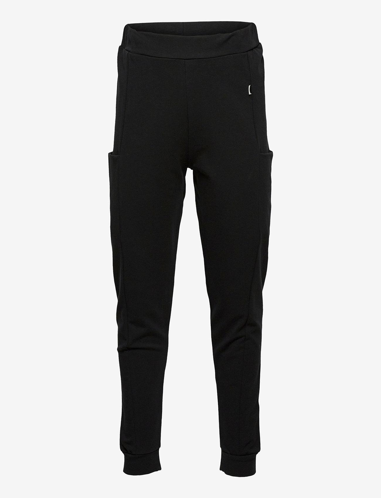 Papu - THIGH POCKET PANTS KID - jogginghosen - black - 0