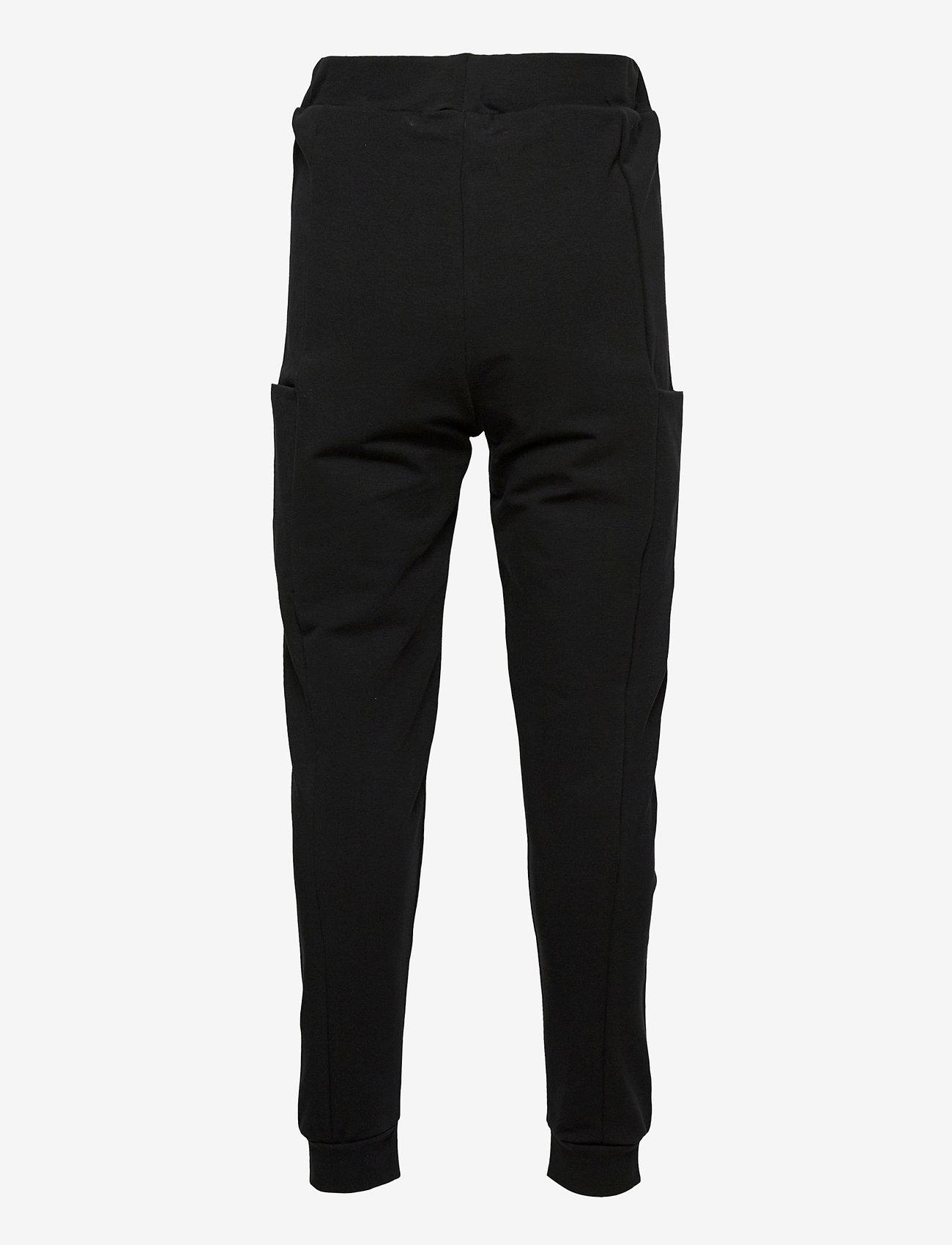 Papu - THIGH POCKET PANTS KID - jogginghosen - black - 1