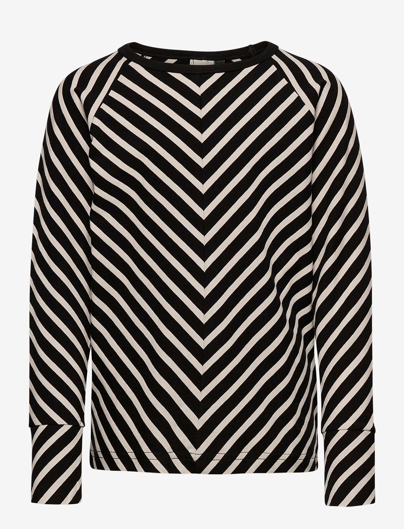 Papu - STRIPE SHIRT KID - sweatshirts - black, sand - 0