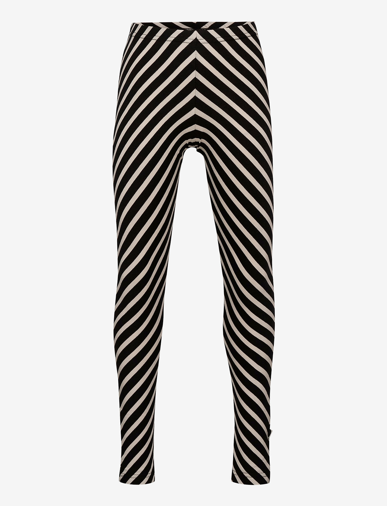 Papu - STRIPE LEGGINGS KID - leggings - black, sand - 0