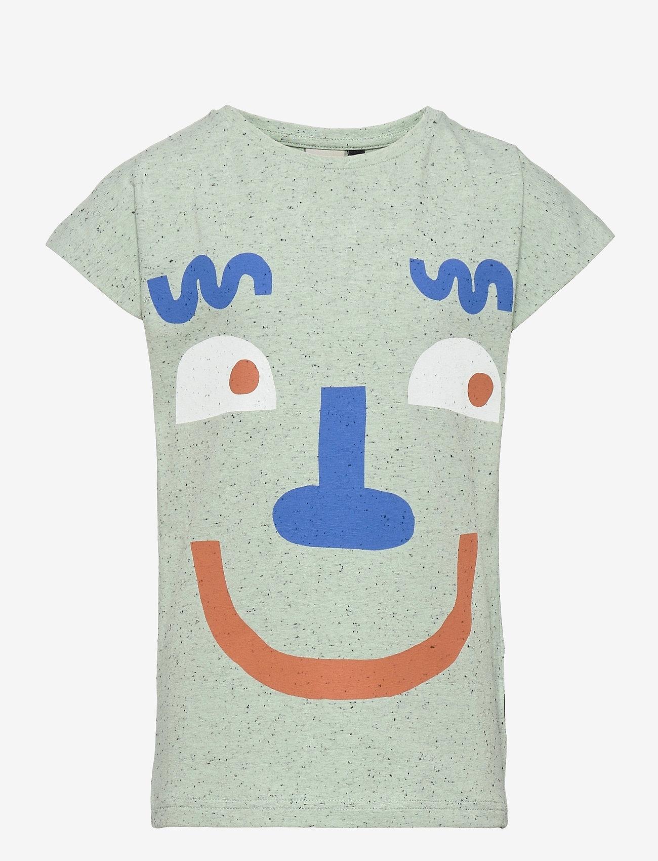 Papu - T-top Stranger - t-shirts - melange green - 0