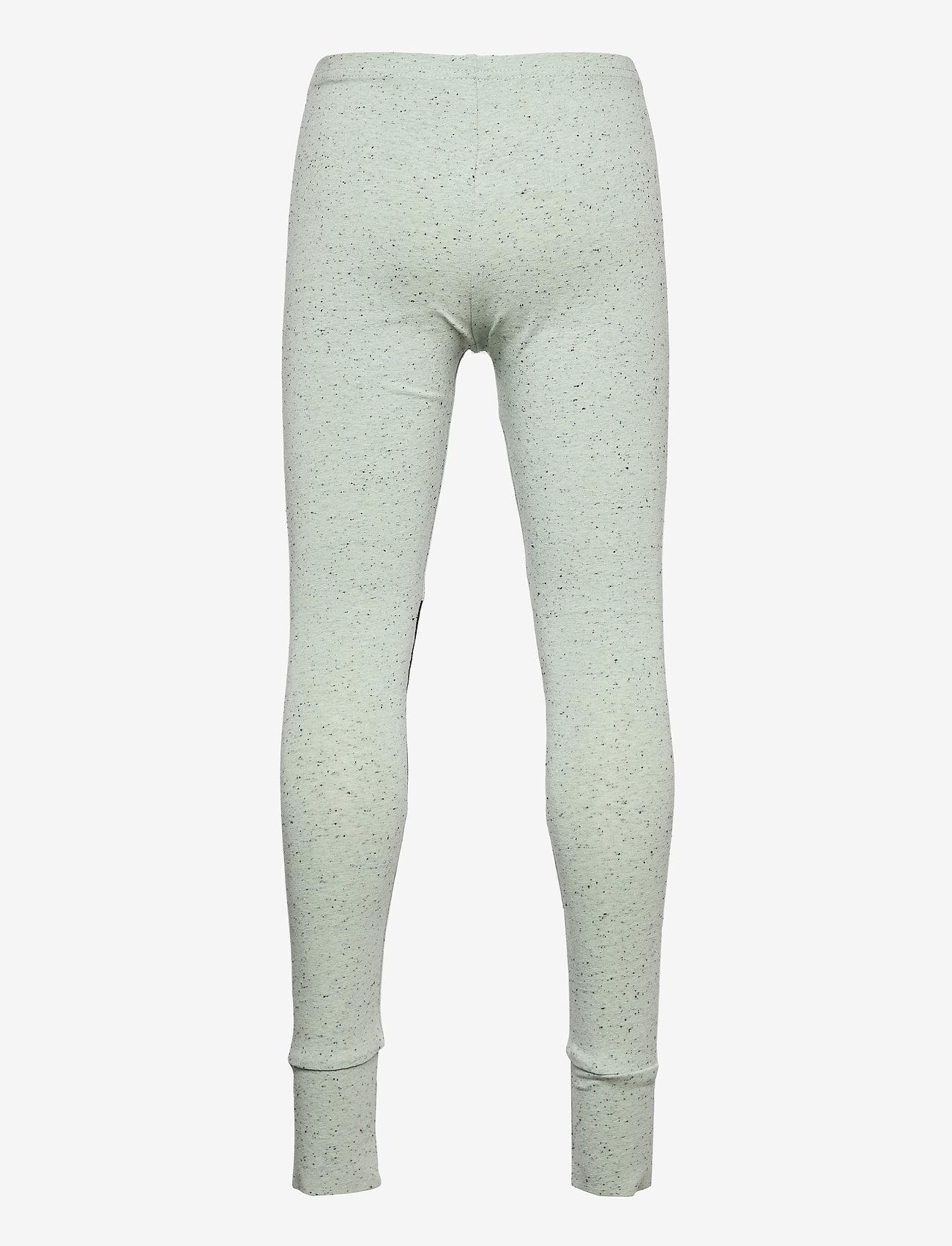 Papu - Patch leggings - leggings - melange green - 1