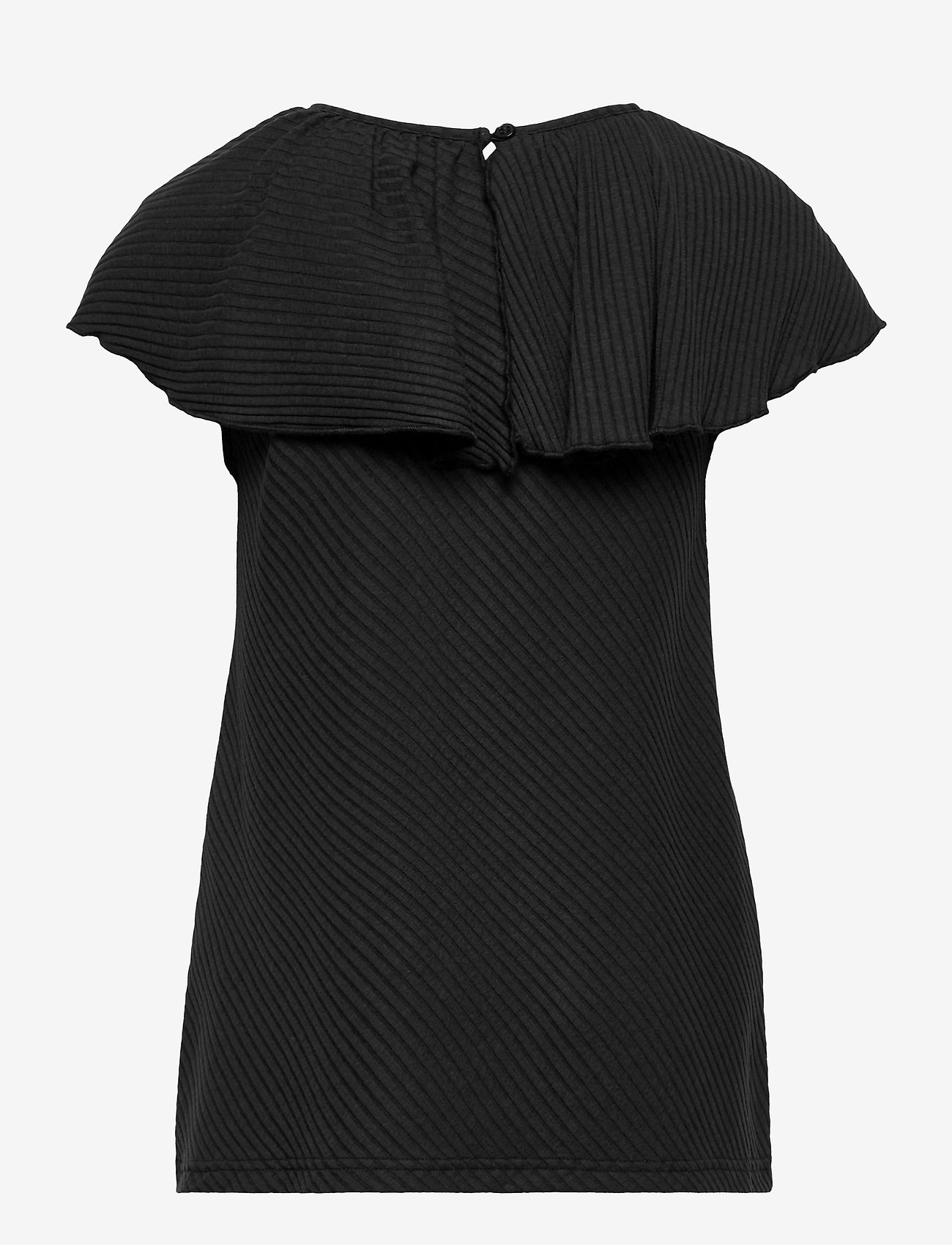 Papu - Tide shirt diagonal rib - zonder mouwen - black - 1