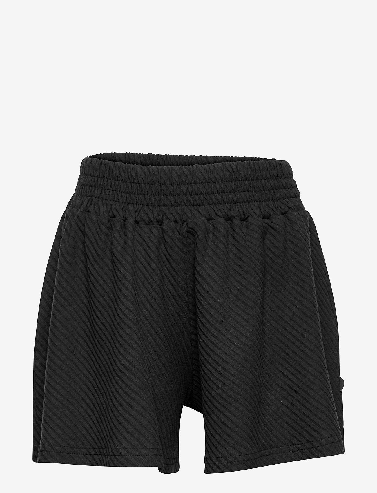 Papu - Wide shorts diagonal rib - shorts - black - 0