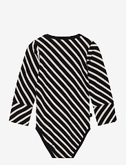 Papu - STRIPE BODY BABY - langärmelig - black, sand - 1