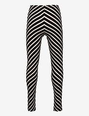 Papu - STRIPE LEGGINGS KID - leggings - black, sand - 1