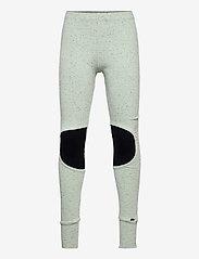 Papu - Patch leggings - leggings - melange green - 0