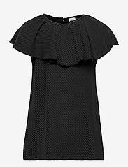 Papu - Tide shirt diagonal rib - zonder mouwen - black - 0
