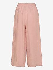 Papu - Linen culotte Free - bukser med brede ben - muted red - 1