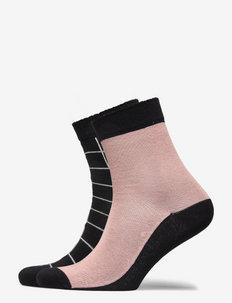 2-PAIR SOCK - skarpetki - misty pink