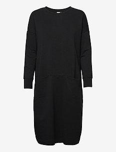 Giant split dress - sommarklänningar - black