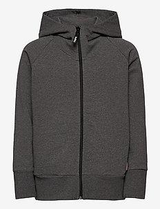 ZIP HOODIE KID - kapuzenpullover - melange grey