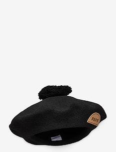 POM POM BERET - kapelusze - black