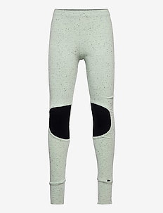 Patch leggings - leggings - melange green