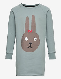 Oval dress Bunny - langärmelig - muted green